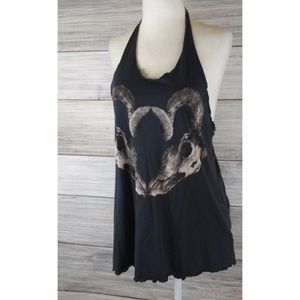 H&M Cowgirl Up Ram Skull Oversized Tank Top 4